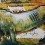 Die Löwin 60x 130 cm, Öl auf Leinwand