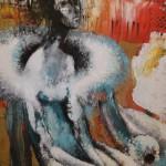 Freudenmädchen 200 x 200 cm, Öl auf Leinwand