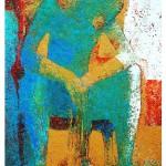 Pause 100 x 50 cm ,Öl Leinwand