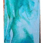 Spiegel 120 x 40 cm, Öl auf Leinwand