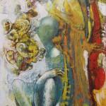 Trio 180 x 100 cm, Öl auf Leinwand