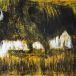 der schwarze koloss 80 x 130 cm, Acryl auf Leinwand Kopie